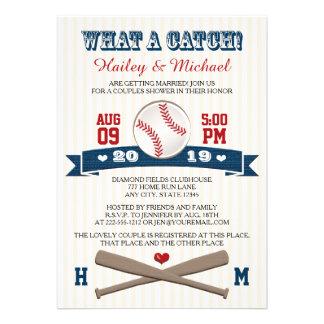 El béisbol con monograma junta la ducha del boda