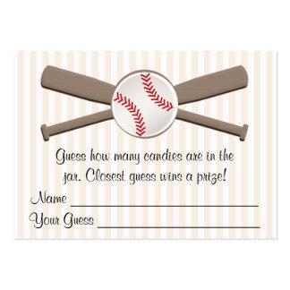 El béisbol cruzado golpea la fiesta de bienvenida tarjetas de visita grandes