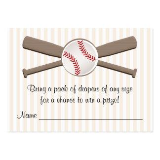 El béisbol cruzado golpea tarjetas de la rifa del tarjetas de visita grandes