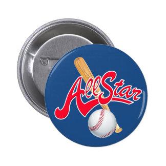El béisbol de All Star se divierte el botón Pin Redondo De 2 Pulgadas