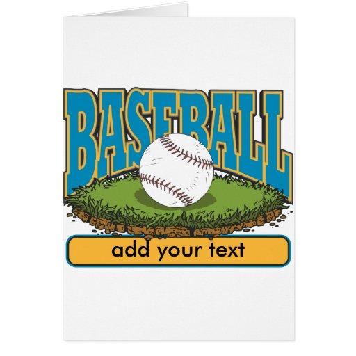 El béisbol de encargo añade el texto tarjeta de felicitación