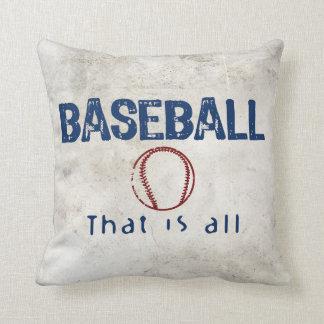 El béisbol, de que es todo cojines