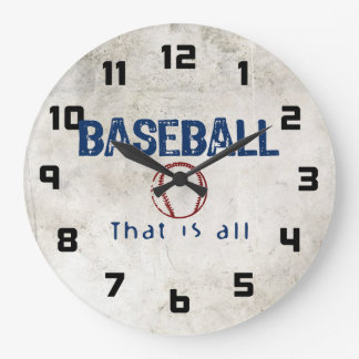 El béisbol de que es todo relojes de pared