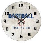 El béisbol, de que es todo relojes de pared