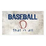 El béisbol, de que es todo plantilla de tarjeta personal