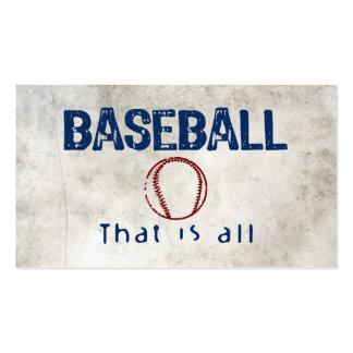 El béisbol, de que es todo tarjetas de visita