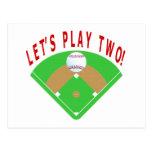 El béisbol, dejó nos jugar dos, las camisetas y lo tarjeta postal