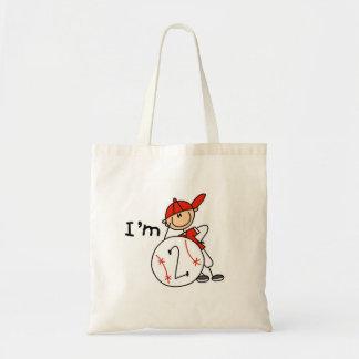 El béisbol del muchacho soy 2 camisetas y regalos bolsas