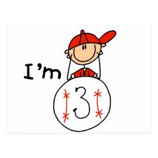El béisbol del muchacho soy 3 camisetas y regalos postales
