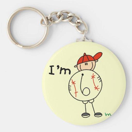 El béisbol del muchacho soy 6 camisetas y regalos llavero redondo tipo pin