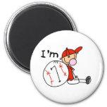 El béisbol del muchacho soy 7 imán de frigorifico