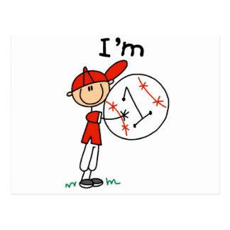 El béisbol del muchacho soy las camisetas 1 y postales