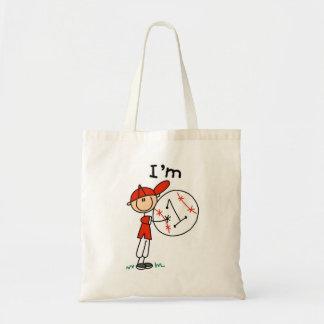 El béisbol del muchacho soy las camisetas 1 y rega bolsa