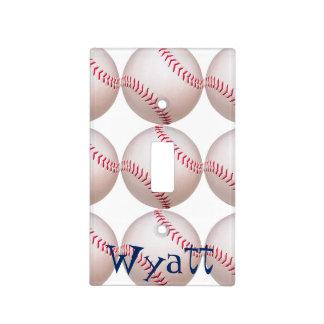 El béisbol del niño personalizó la cubierta ligera placa para interruptor
