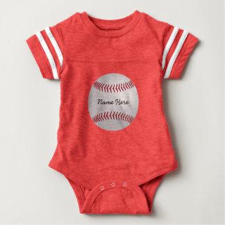 El béisbol del tema de los deportes del body para bebé