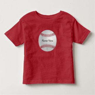 El béisbol del tema de los deportes del playera de bebé