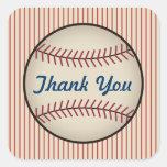 El béisbol del vintage le agradece los pegatinas