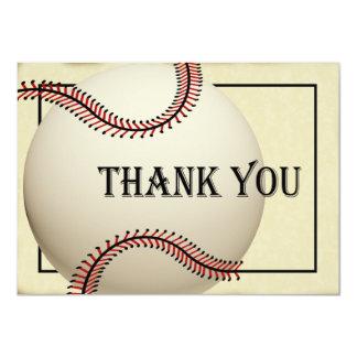 """El béisbol del vintage le agradece tarjeta plana invitación 4.5"""" x 6.25"""""""