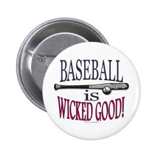 El béisbol es buen botón travieso pin