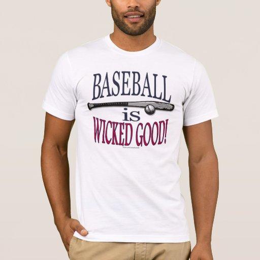 El béisbol es buena camiseta traviesa