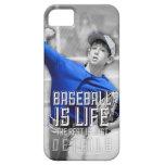 El béisbol es caja del teléfono de la vida iPhone 5 Case-Mate carcasa
