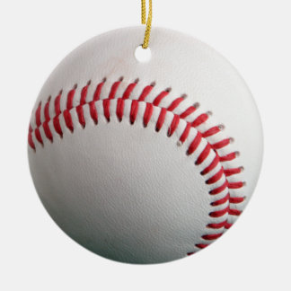 el béisbol es fresco adorno de navidad
