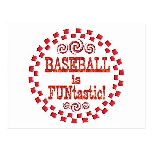 El béisbol es Funtastic Tarjetas Postales
