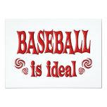 El béisbol es ideal comunicados personalizados