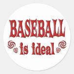 El béisbol es ideal etiqueta redonda
