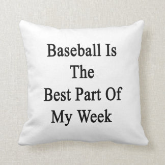 El béisbol es la mejor parte de mi semana almohada