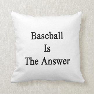 El béisbol es la respuesta cojin