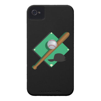 El béisbol es mi corazón iPhone 4 Case-Mate cárcasa