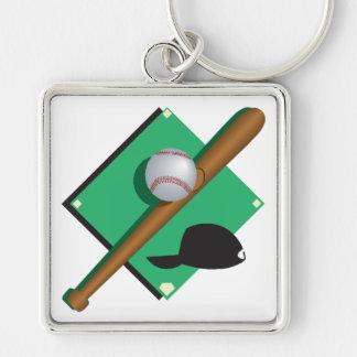 El béisbol es mi corazón llaveros