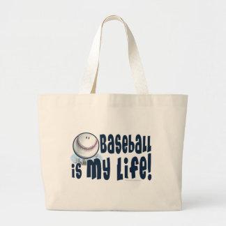 ¡El béisbol es mi vida! Bolso Bolsa Tela Grande