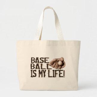 ¡El béisbol es mi vida! Bolso del guante Bolsa De Tela Grande