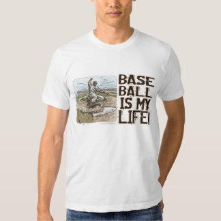 ¡El béisbol es mi vida! Camiseta del resbalador Camisas