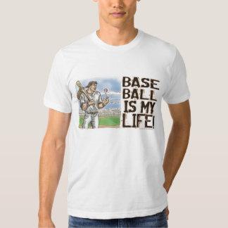 ¡El béisbol es mi vida! Camiseta Remera