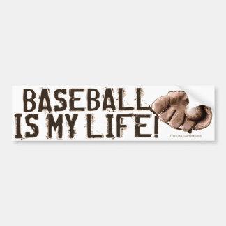 ¡El béisbol es mi vida! Guante Bumpersticker Etiqueta De Parachoque