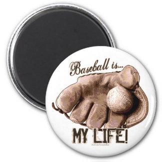 ¡El béisbol es… mi vida! Imán del guante