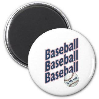 El béisbol es mi vida imán redondo 5 cm