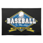 El béisbol es mi vida mantel individual