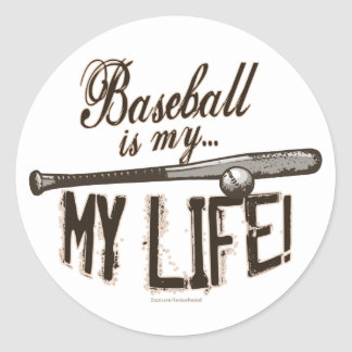 ¡El béisbol es mi vida! Pegatina