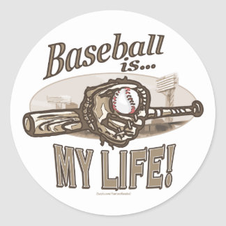 ¡El béisbol es… mi vida! Pegatina