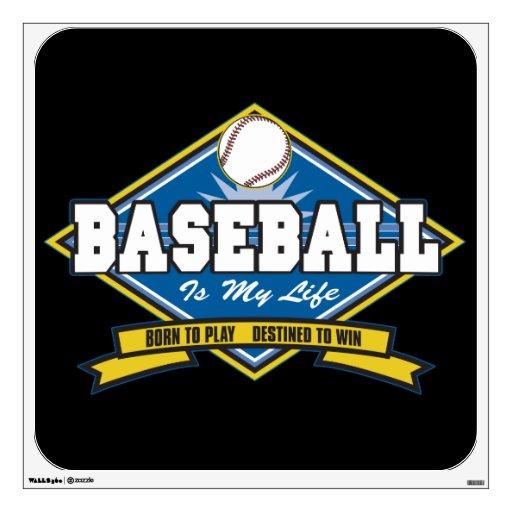 El béisbol es mi vida vinilo adhesivo