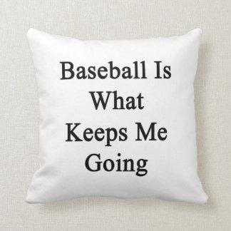 El béisbol es qué me guarda el ir almohada