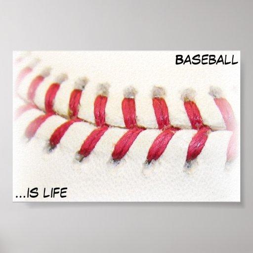 El béisbol es vida poster