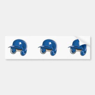 el béisbol estropea el azul del casco pegatina de parachoque