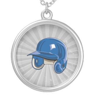 el béisbol estropea el azul del casco colgante redondo