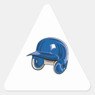 el béisbol estropea el azul del casco pegatina triangular