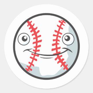 El béisbol feliz fresco se divierte el dibujo anim pegatinas